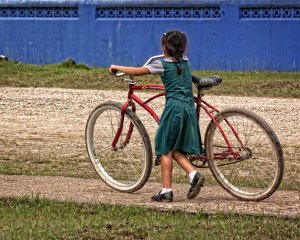 Girl With Big Bike